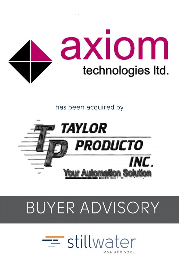 Axiom has been acquired by Taylor Producto