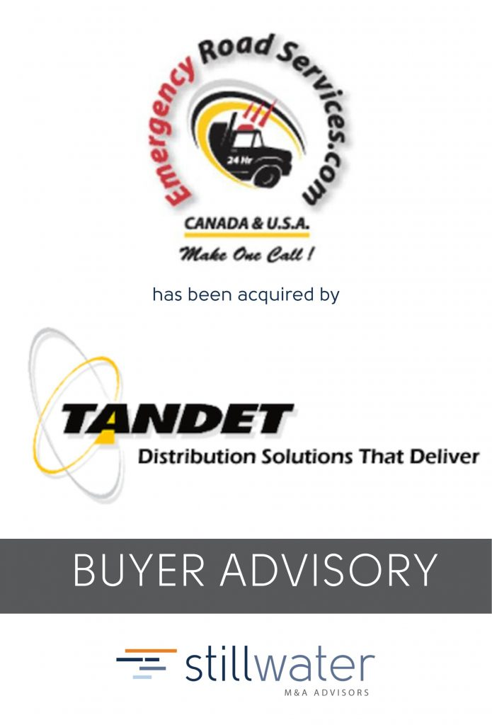 Emergency Road Services has been acquired by Tandet