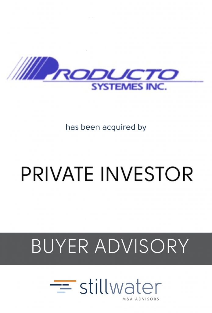 Producto Sustemes has been acquired by Private Investor