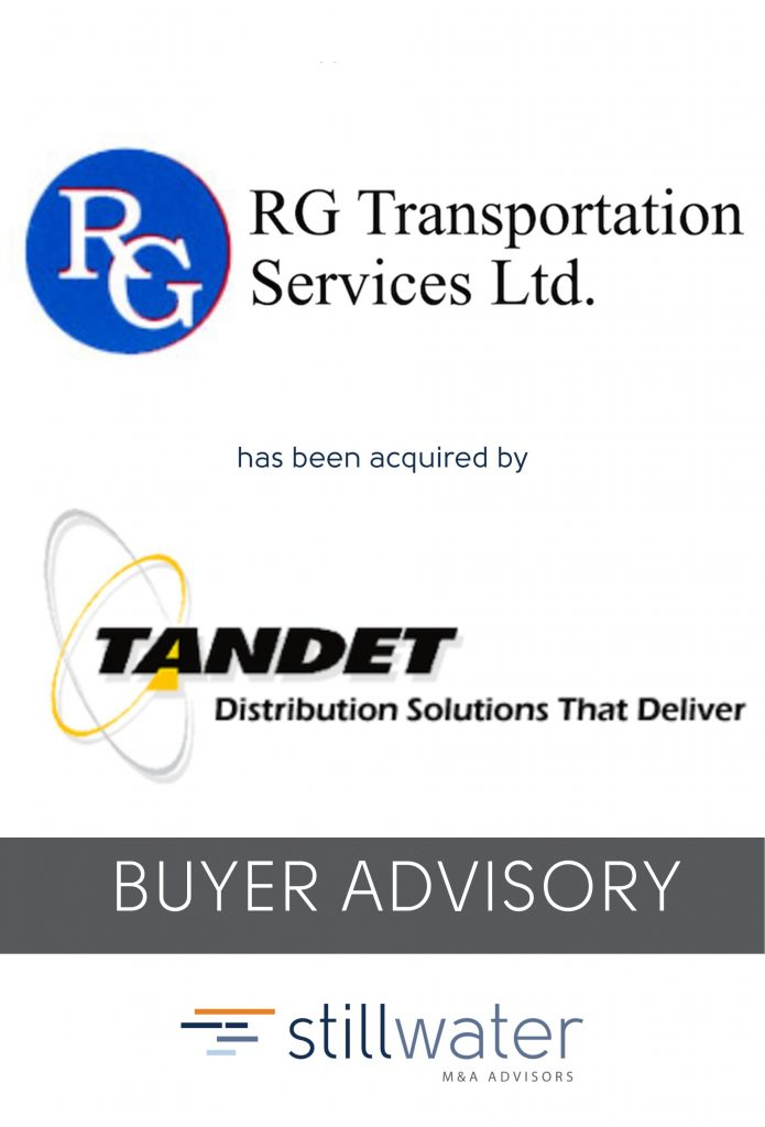 RG Transportation has been acquired by Tandet