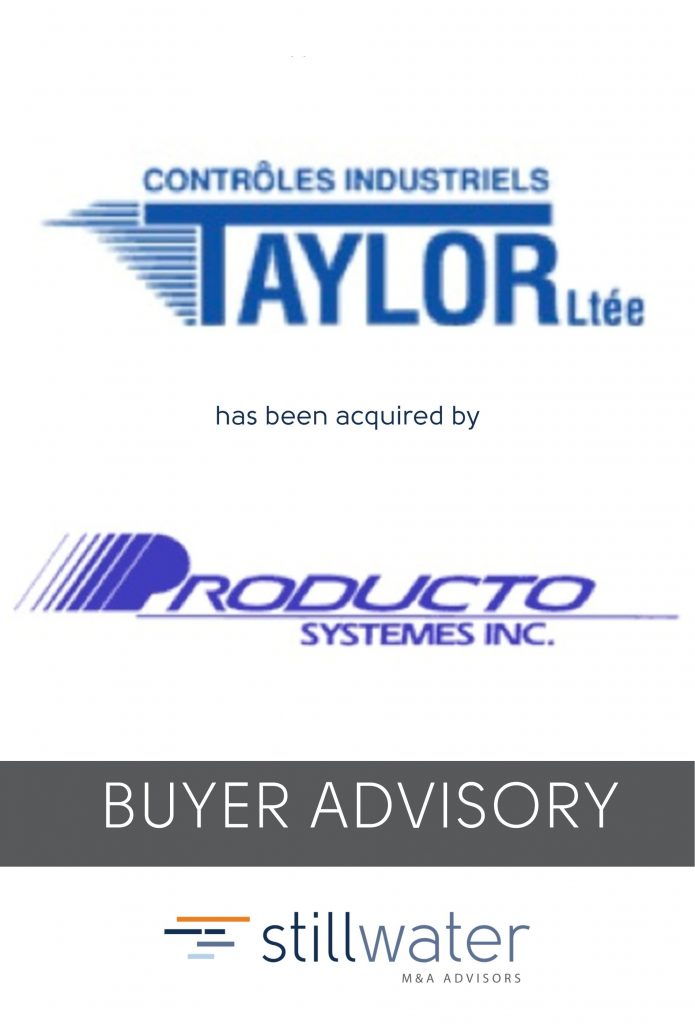Taylor has been acquired by Producto Systemes