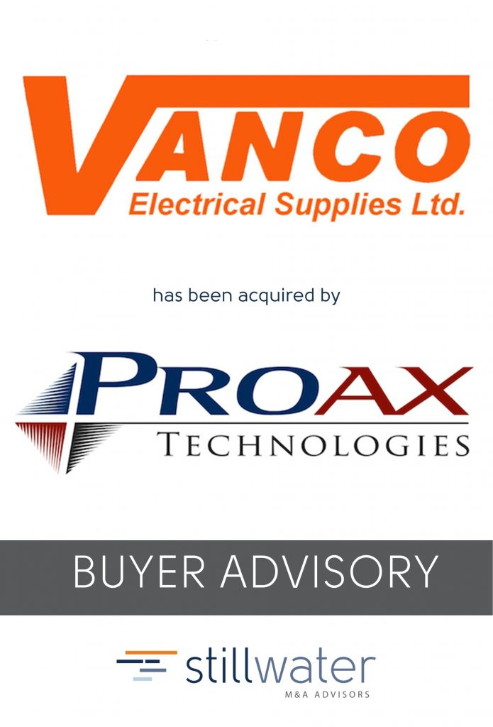 Vanco has been acquired by Proax