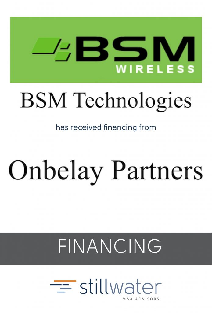 BSM has received financing from Onbelay Partners