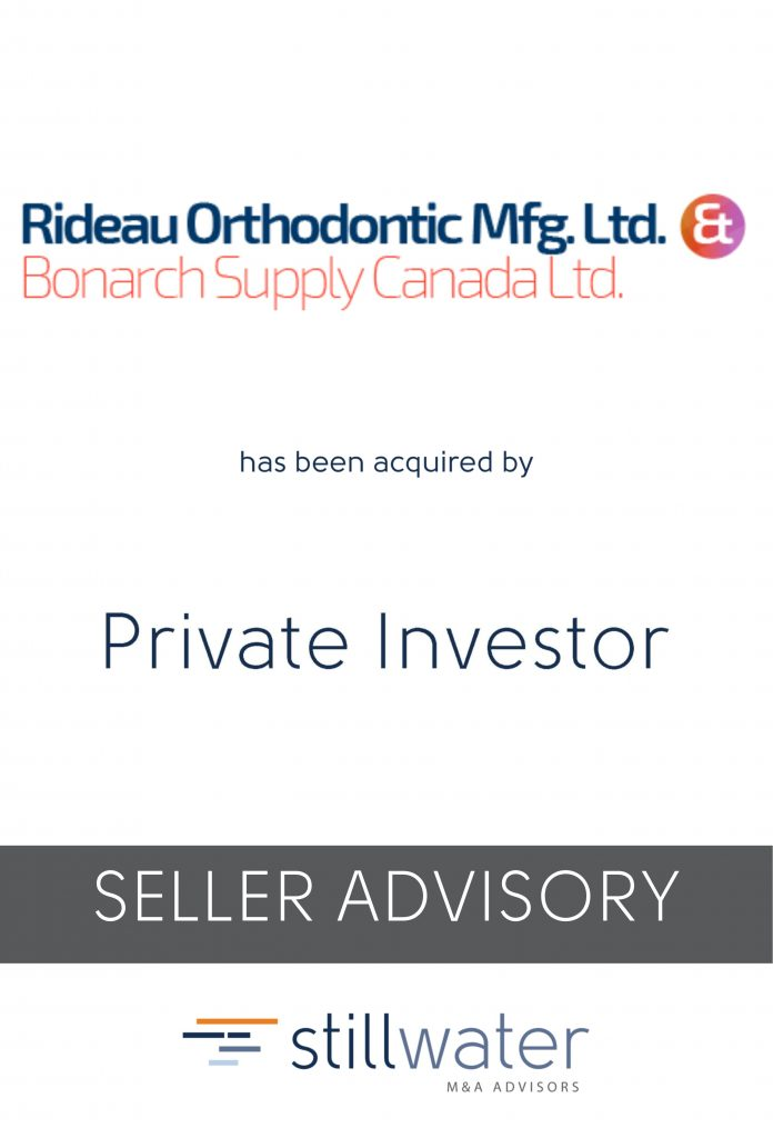Rideau Orthodontic has been acquired by Private Investor