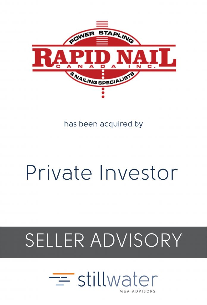Rapid Nail has been acquired by Private Investor