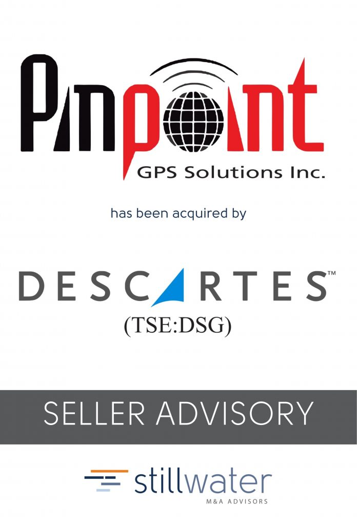 Pinpoint GPS has been acquired by Descartes