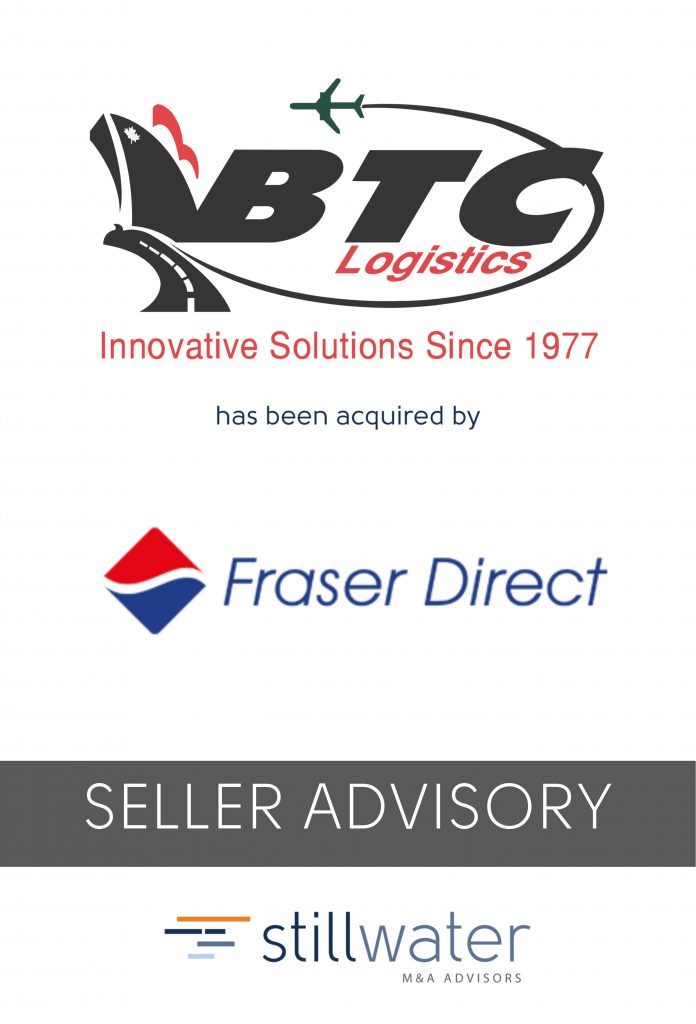 BTC Logistics has been acquired by Fraser Direct