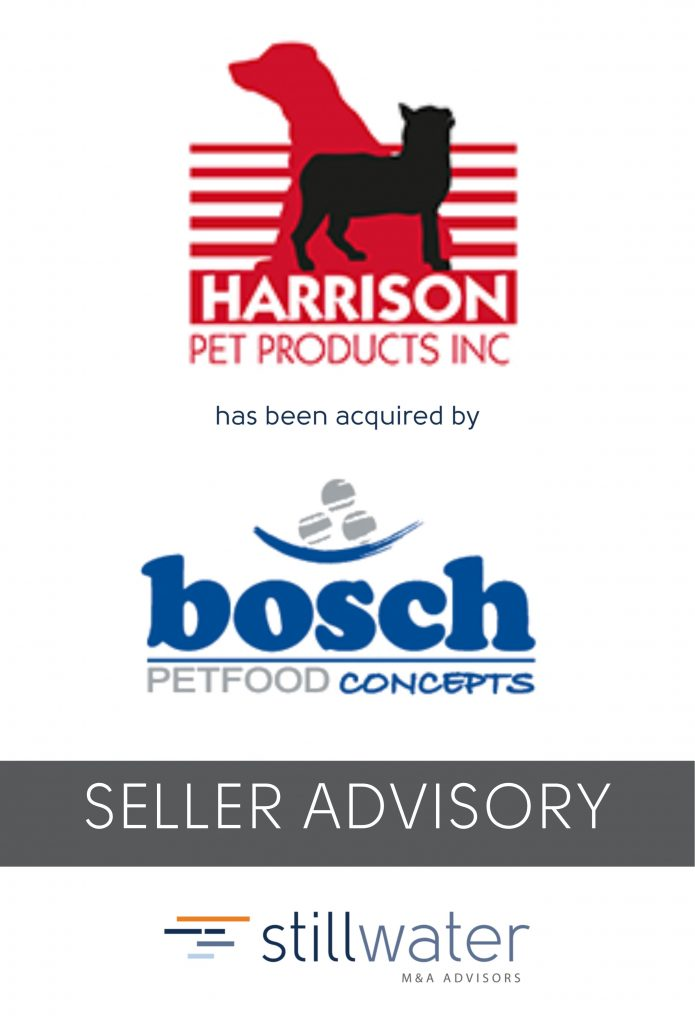 Harrison Pet Products has been acquired by Bosch